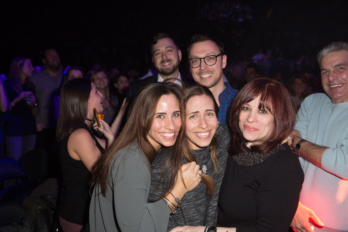 Fans in the audience at Billy Joel's concert at Madison Square Garden in New York, NY, on February 22, 2017.