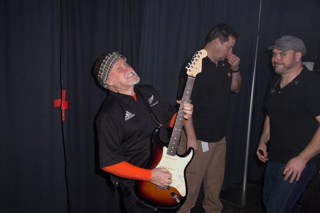 Wayne Williams on guitar