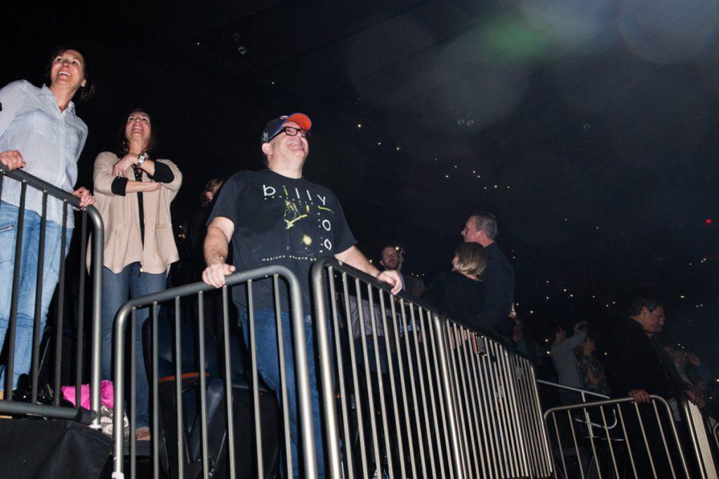 Super fan in the audience