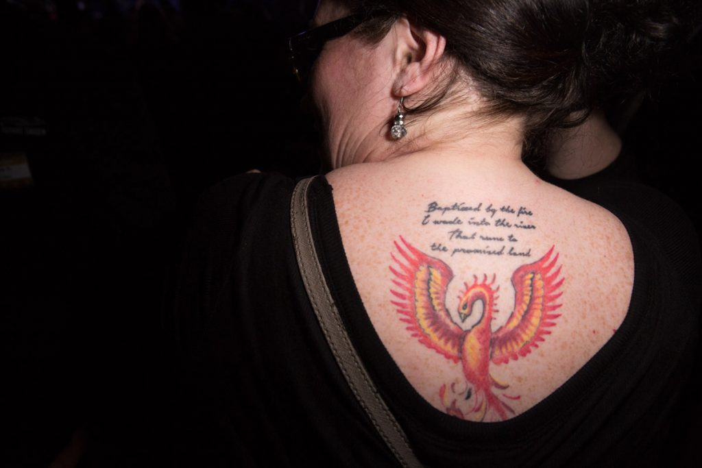 Cool tatto in the audience