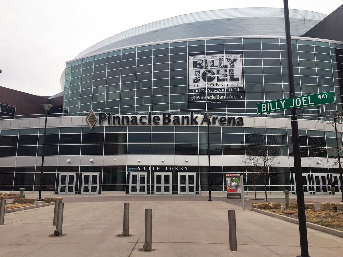 Billy Joel Way at Pinnacle Bank Arena in Lincoln, NE, March 24, 2017