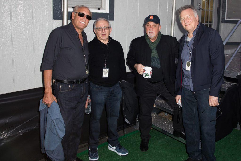 Dennis Arfa, Irving Azoff, Billy and Paul Reiserbackstage