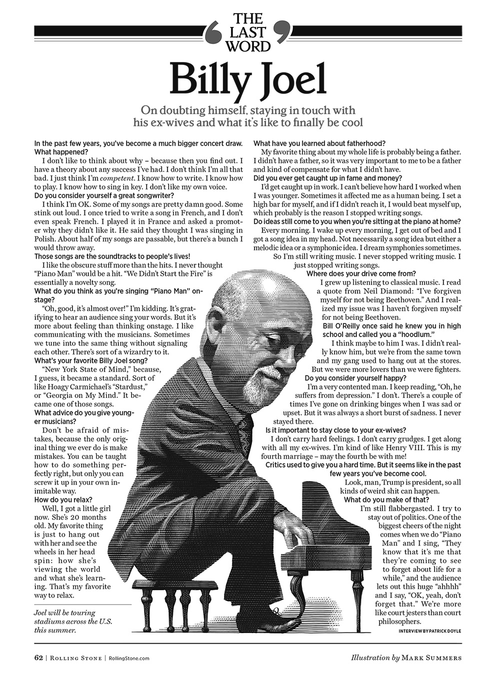 Billy Joel 'The Last Word' Rolling Stone Interview