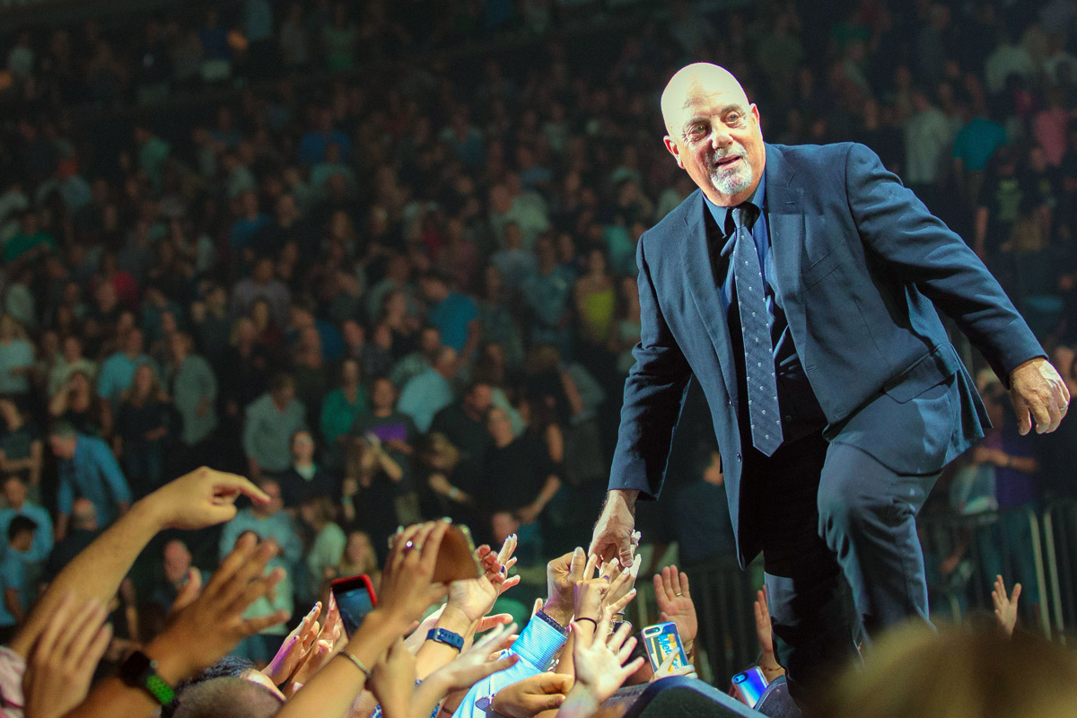 Billy Joel greets fans during concert Madison Square Garden in New York, NY, on July 5, 2017