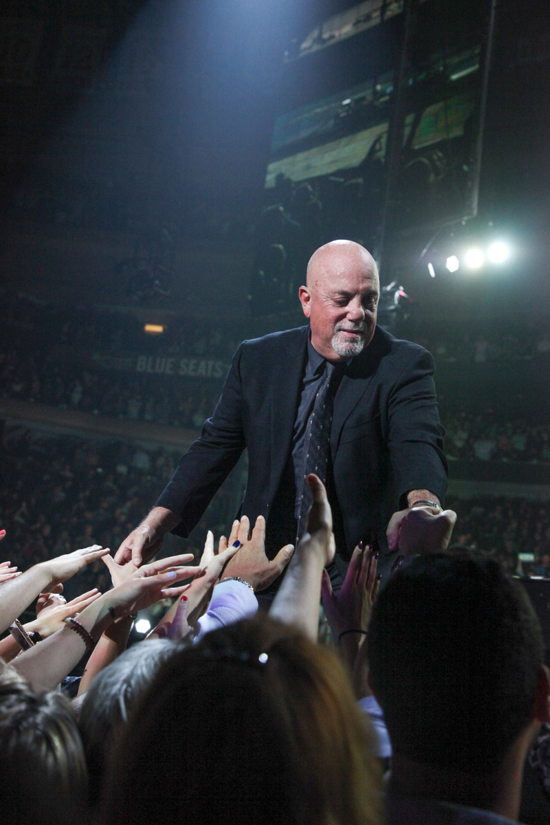 Billy Joel greets fans Madison Square Garden in New York, NY, on July 5, 2017