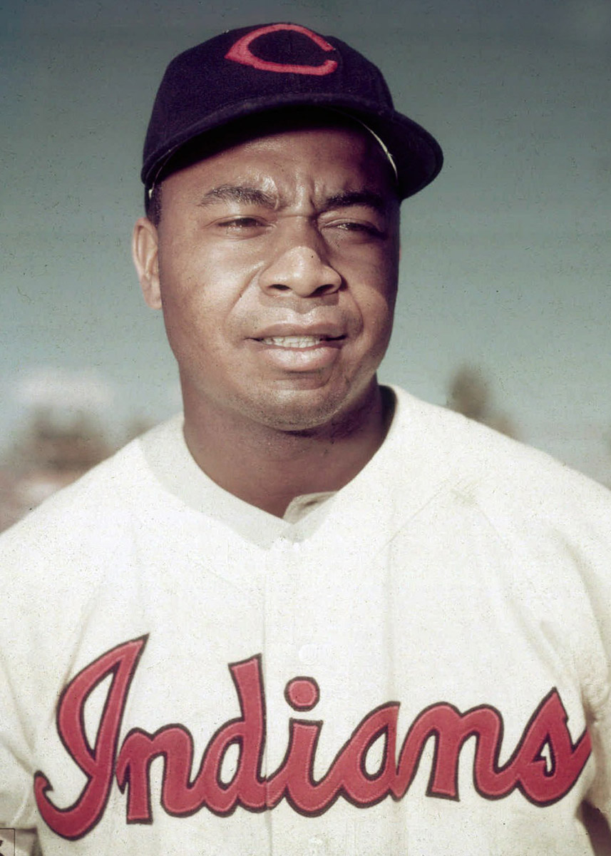 Former Cleveland Indians outfielder and first African-American to play in the American League, Larry Doby