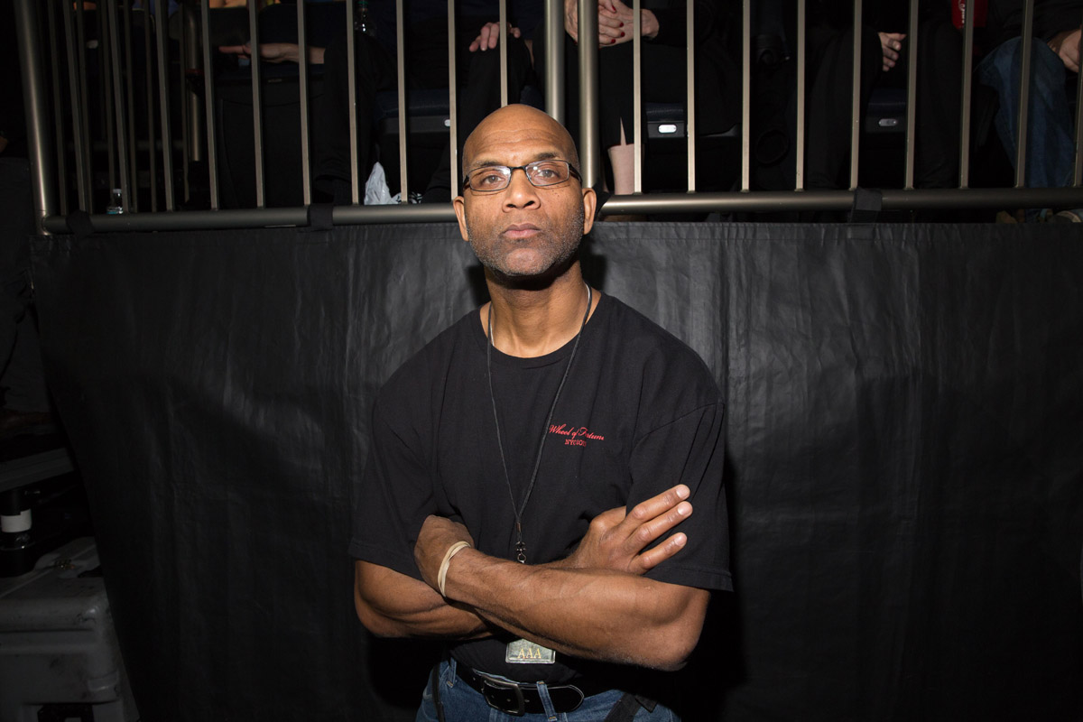 Larry Doby, Jr. in the audience at Billy Joel's concert at Madison Square Garden in New York, NY on March 15, 2016