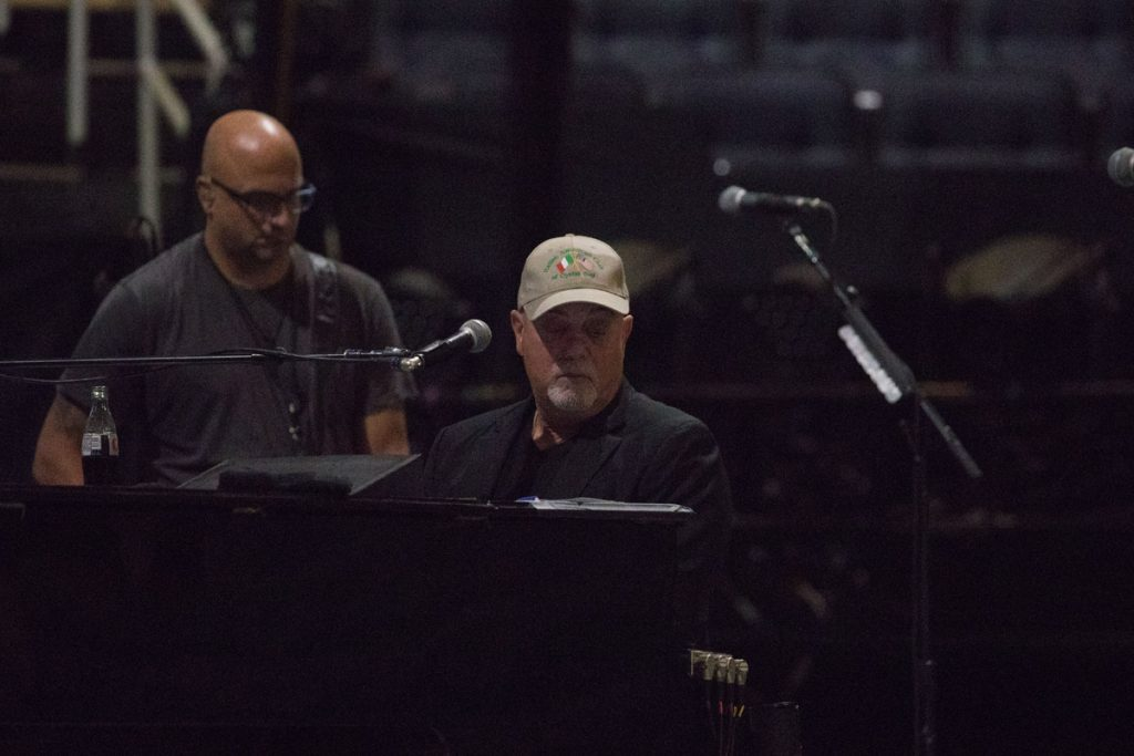 Billy Joel and Mike DelGuidice at soundcheck Madison Square Garden in New York, NY, on August 21, 2017