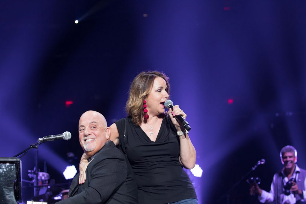 "Patty Smyth and Billy Joel perform ""Goodbye To You"" during Billy's concert at Madison Square Garden in New York, NY, on August 21, 2017"