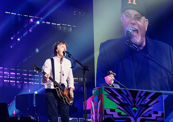 Paul McCartney and Billy Joel at Nassau Coliseum September 26, 2017