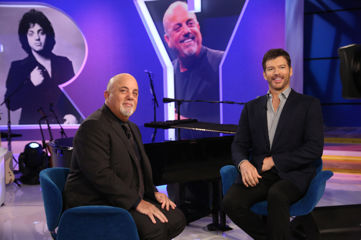 Billy Joel and Harry Connick, Jr. on Harry talk show, taped September 7, 2017 and airing on U.S. television September 12, 2017