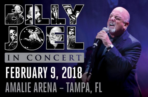 Billy Joel Returns To Tampa At Amalie Arena On February 9, 2018