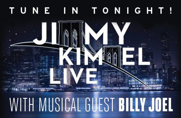 TUNE IN: Billy Joel To Appear On 'Jimmy Kimmel Live!' Tonight