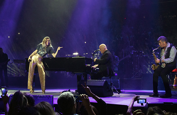 Billy Joel and Miley Cyrus perform New York State Of Mind at Madison Square Garden New York, NY September 30, 2017