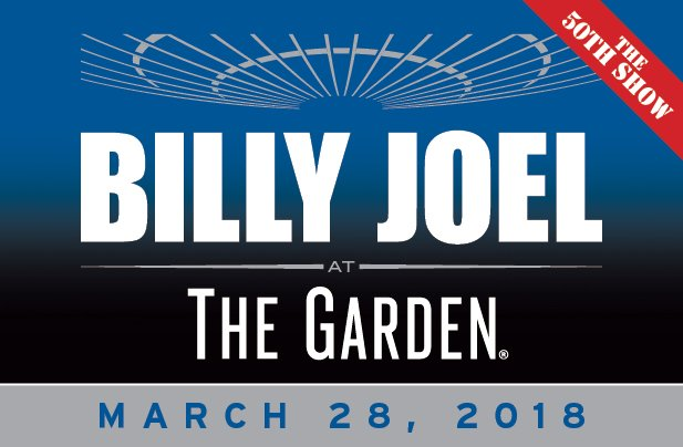 Billy Joel Madison Square Garden New York, NY 50th consecutive show March 28, 2018