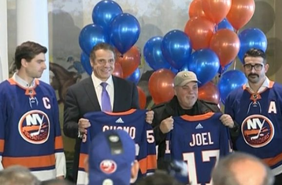 Billy Joel Joins Governor Cuomo To Welcome Islanders Back To Long Island