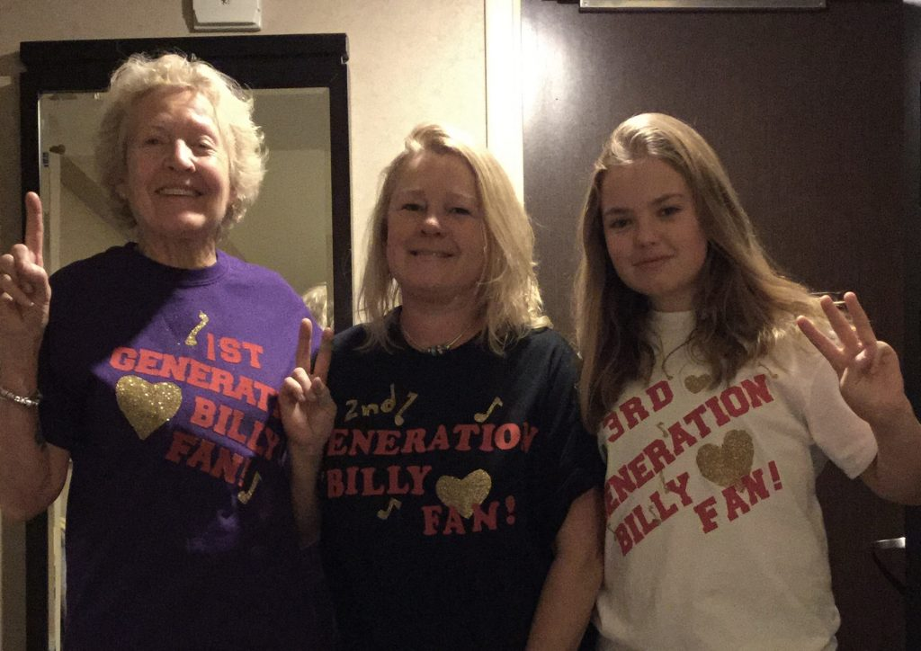 Three generations of Billy fans for 12/20 concert at MSG