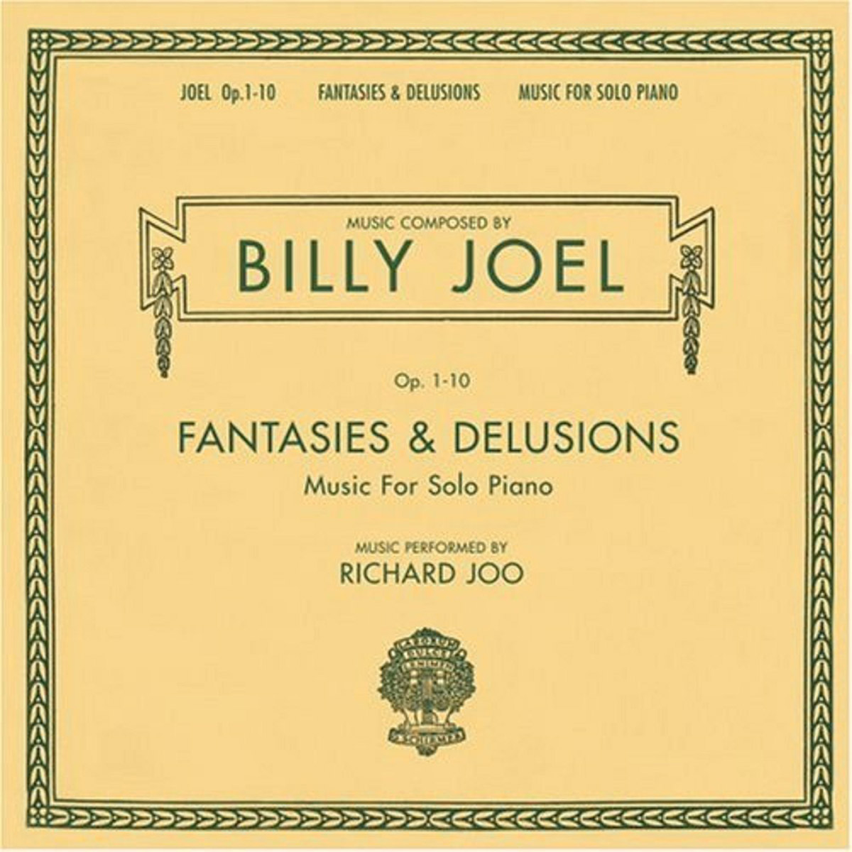 Billy Joel - Opus 1-10 Fantasies & Delusions - Music For Solo Piano