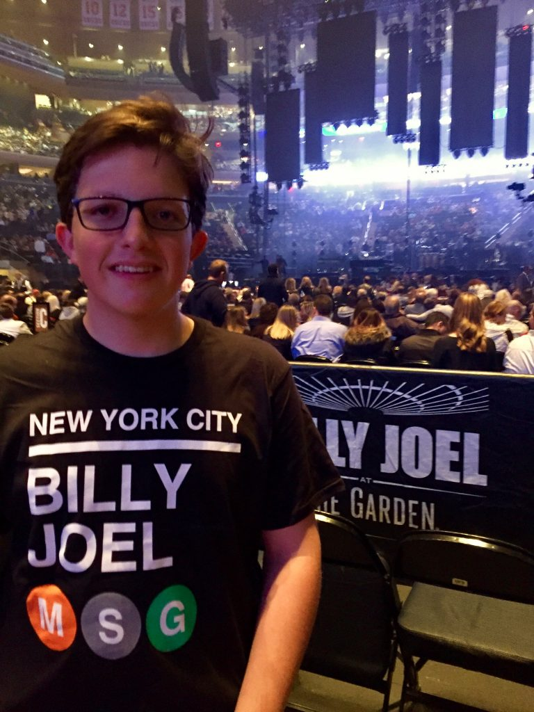 Connor Simpson at the Billy Joel concert