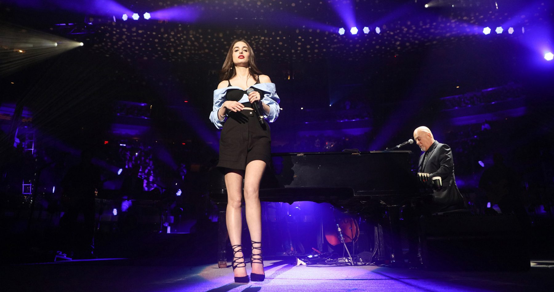 Alexa Ray Joel performs Baby Grand with father Billy Joel during his concert at Madison Square Garden New York, NY June 2, 2018