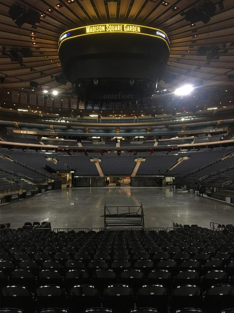 Madison Square Garden before Billy Joel 100th concert July 18, 2018