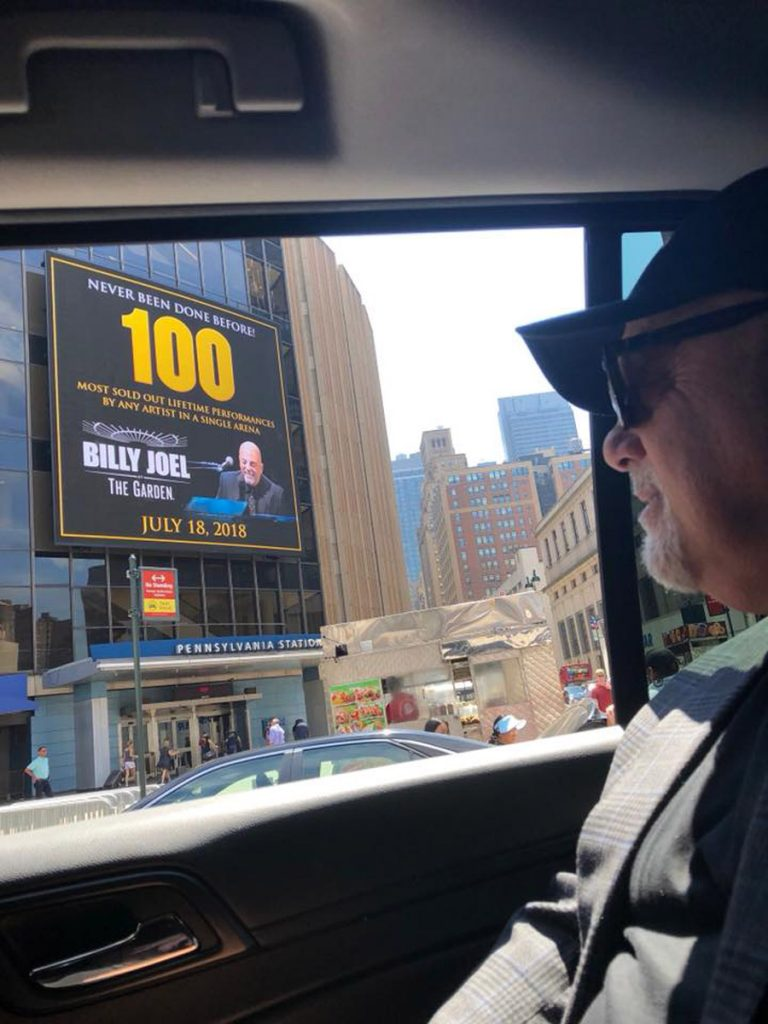 Billy Joel arrives for his 100th concert at Madison Square Garden in New York, NY, on July 18, 2018