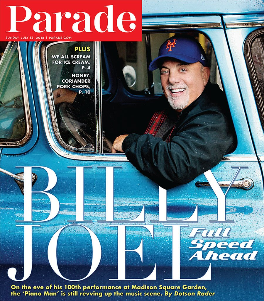 Billy Joel On The Cover Of PARADE Magazine Available Now! | Billy