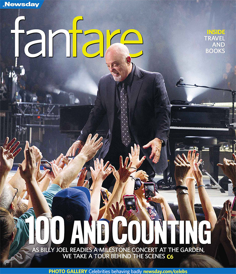 Billy Joel on cover of Newsday FanFare July 15, 2018