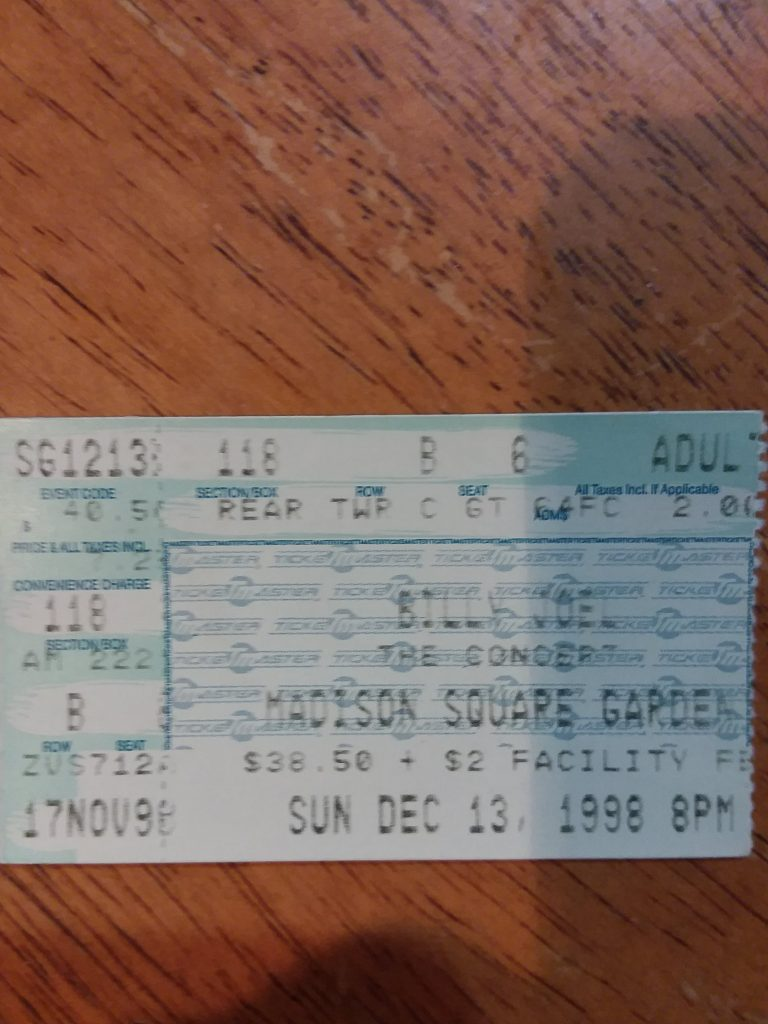 My ticket stub
