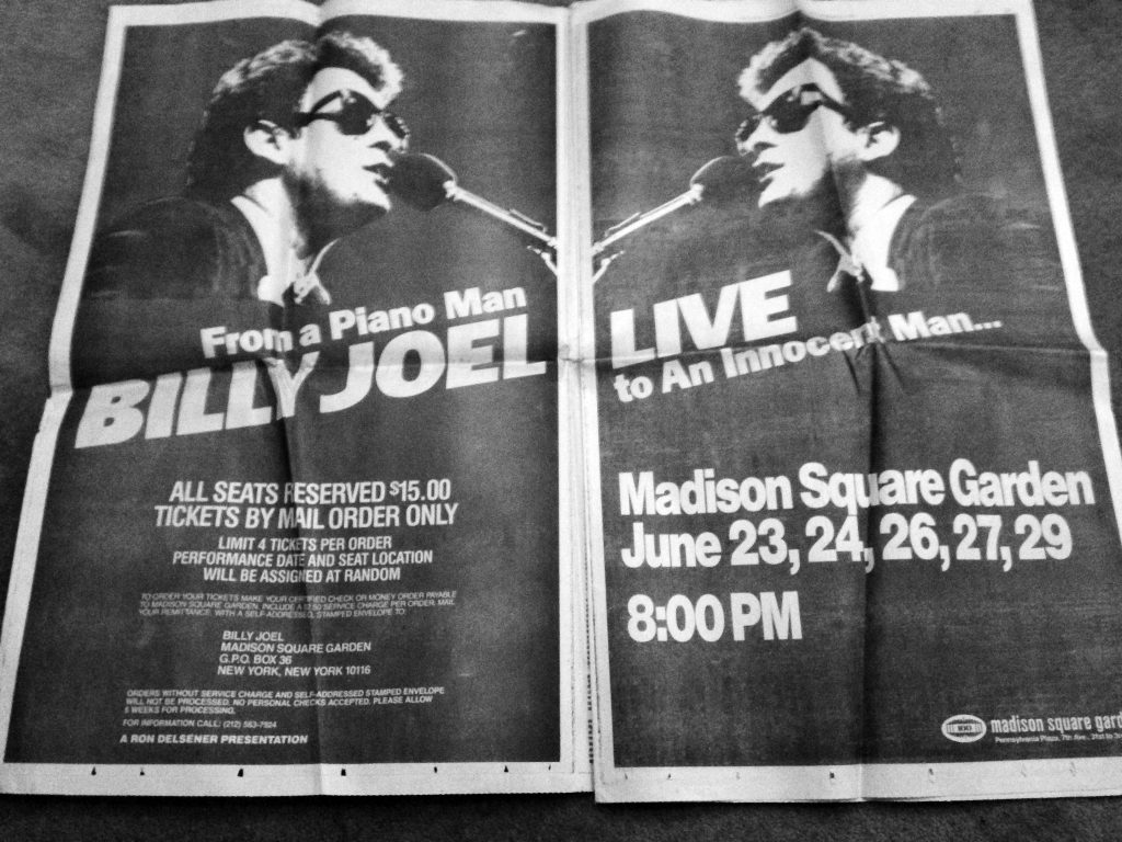 Billy at MSG 1980