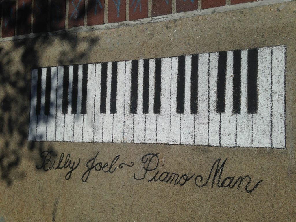 Billy Joel ~ The Piano Man Chalk Art