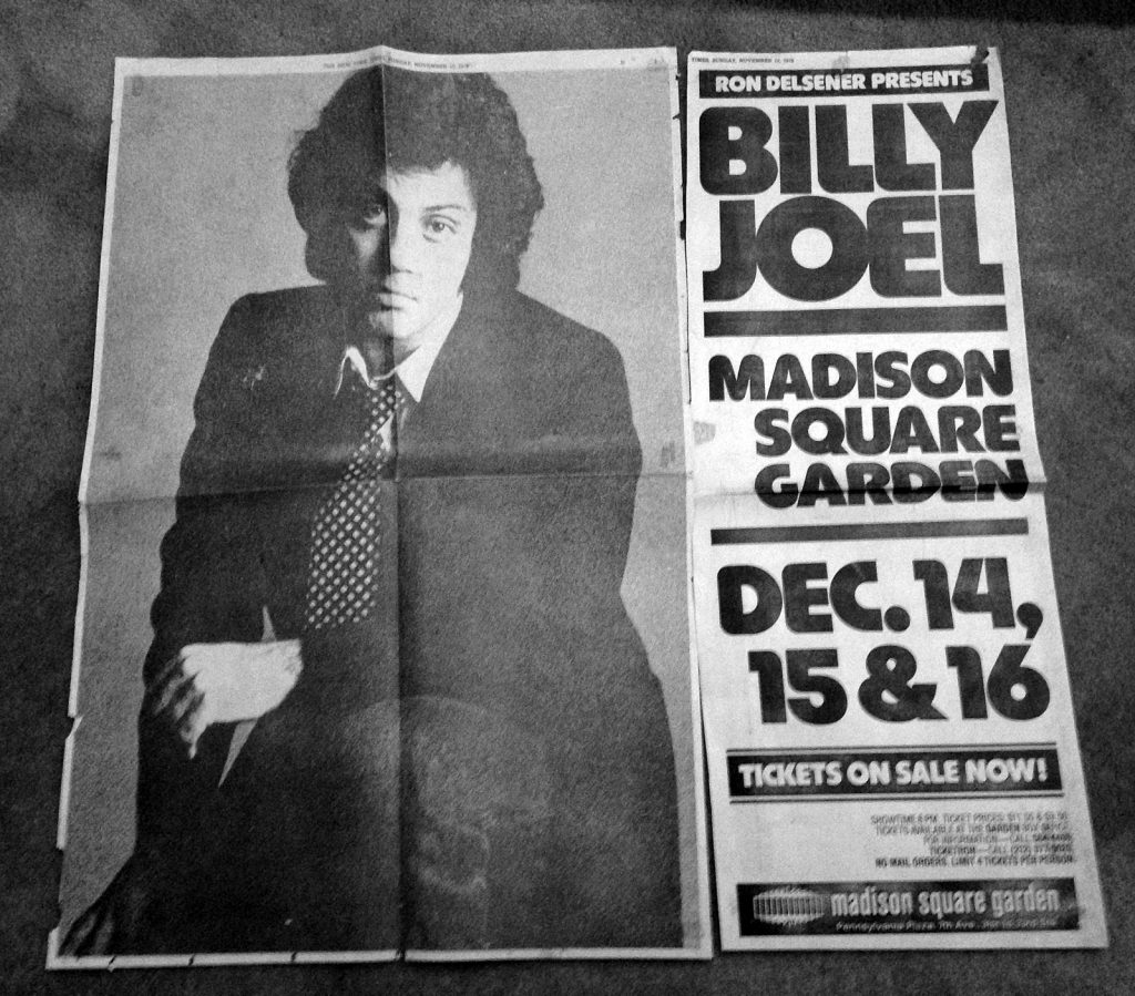 Billy's First MSG show
