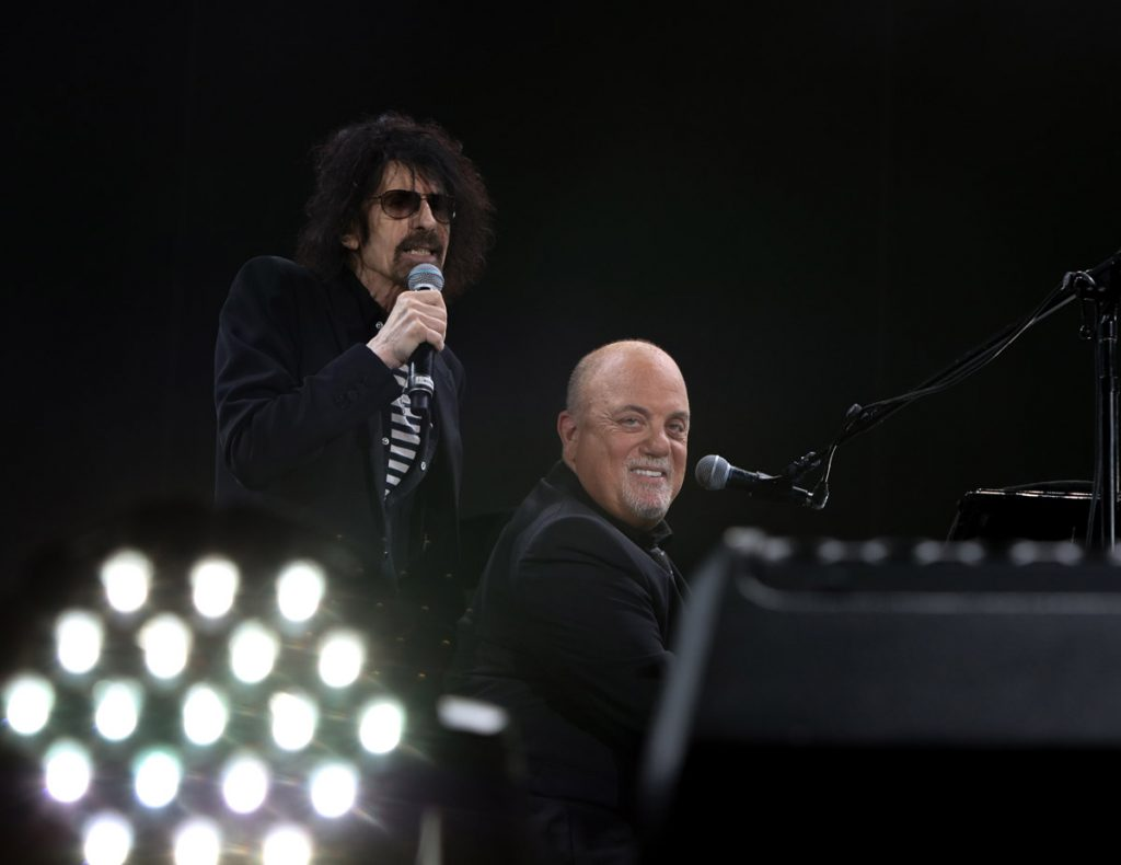"Peter Wolf of J. Geils Band performs ""Centerfold"" during Billy Joel concert at Fenway Park Boston, MA, August 10, 2018"