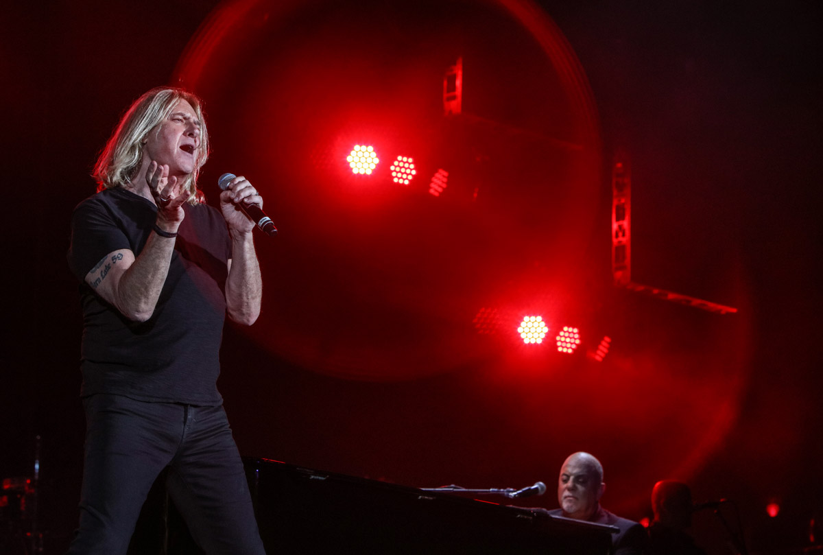 Def Leppard's Joe Elliott performs Pour Some Sugar On Me at Billy Joel concert Fenway Park Boston, MA, August 10, 2018