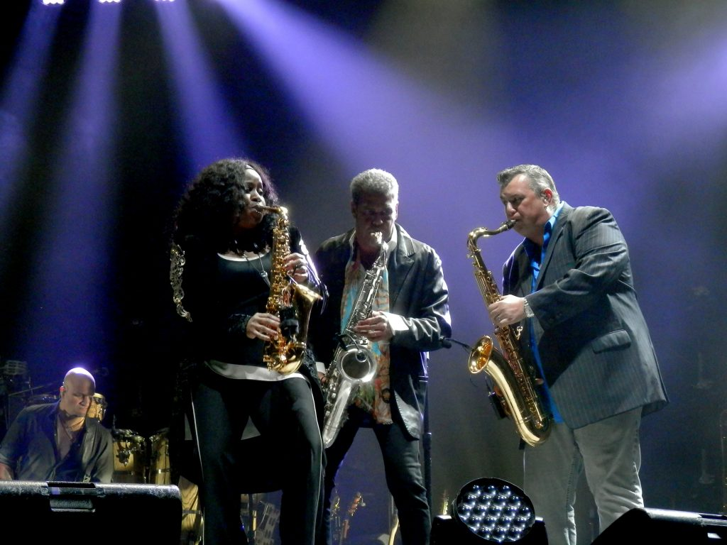 Carl Fischer, Crystal Taliefero and Mark Rivera on the saxophones.