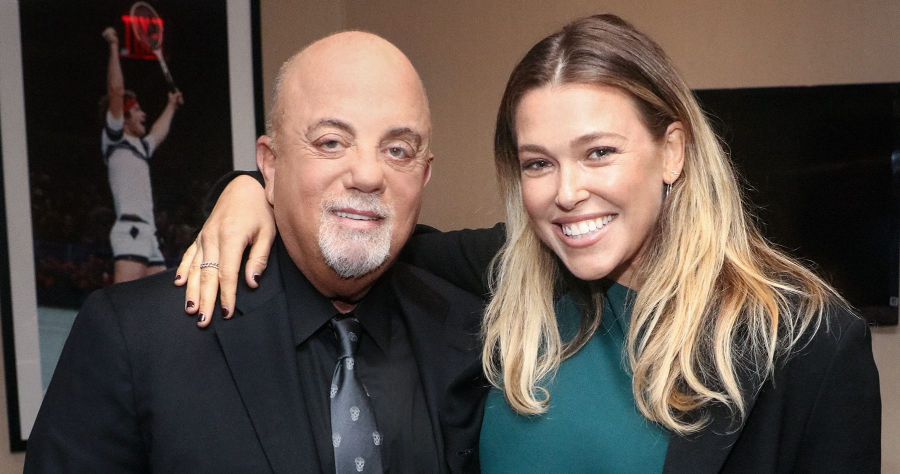 Billy Joel backstage with Rachel Platten at Madison Square Garden in New York, NY September 30, 2018