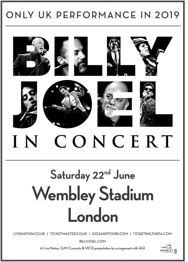 Billy Joel in Concert June 22, 2019 Wembley Stadium London