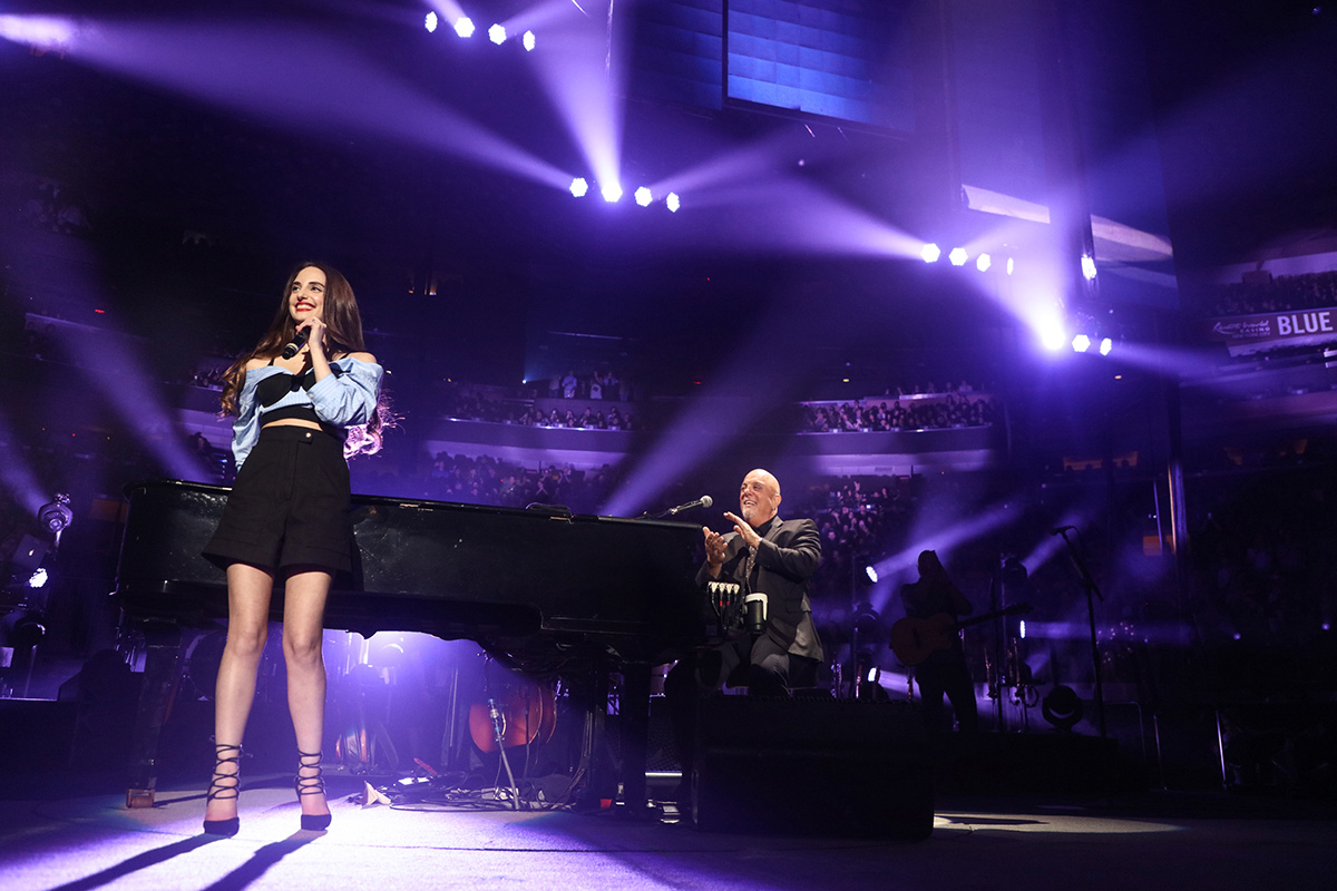 Alexa Ray Joel joins her father Billy Joel on stage at Madison Square Garden on June 2, 2018