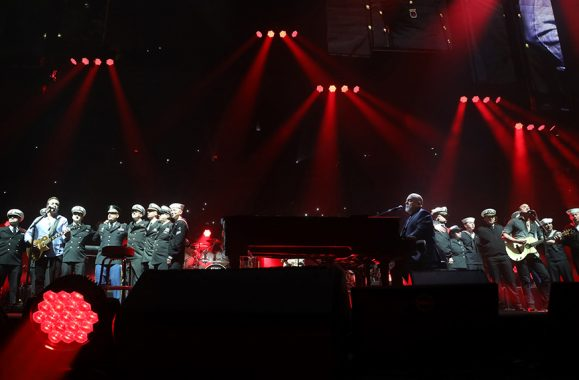 Billy Joel Honors Veterans On Stage At Madison Square Garden