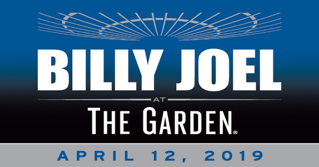 Billy Joel to play Madison Square Garden New York, NY April 12, 2019