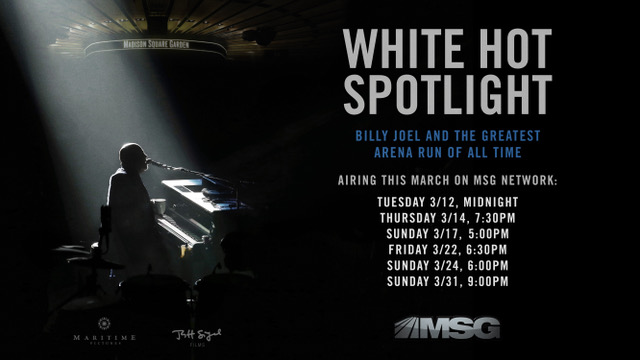 Billy Joel 'White Hot Spotlight' To Be Rebroadcast On MSG Network