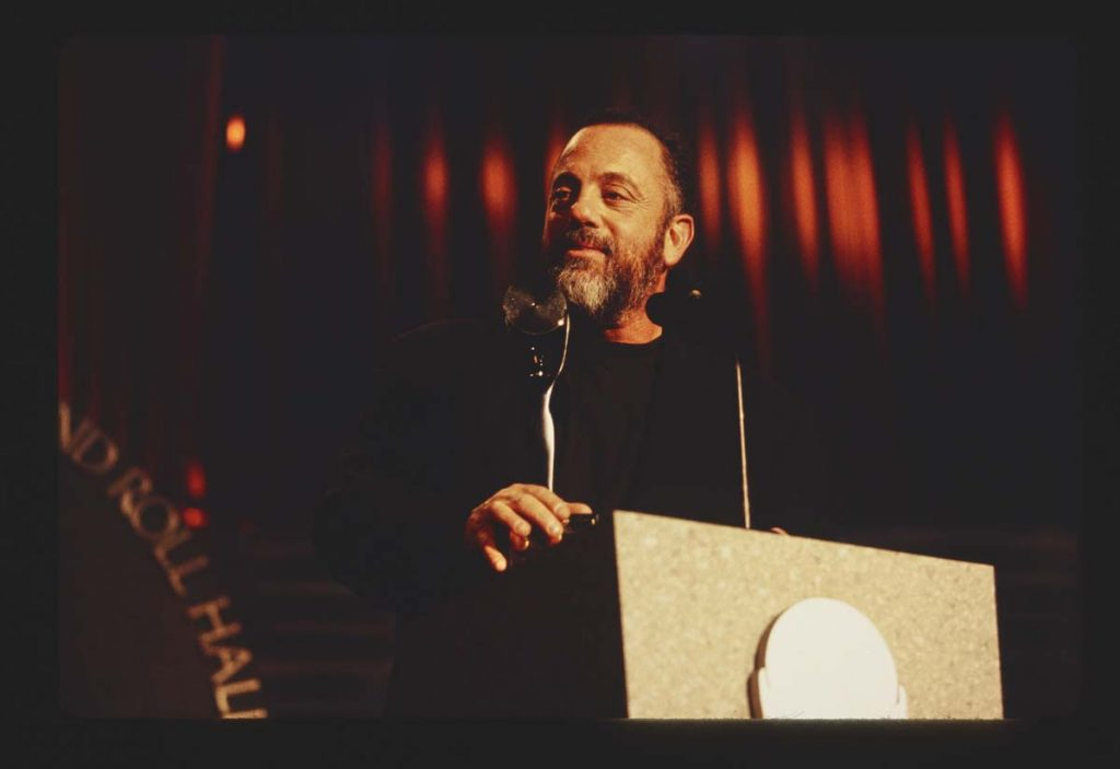 Flashback To Billy Joel's Induction Into The Rock and Roll Hall of Fame
