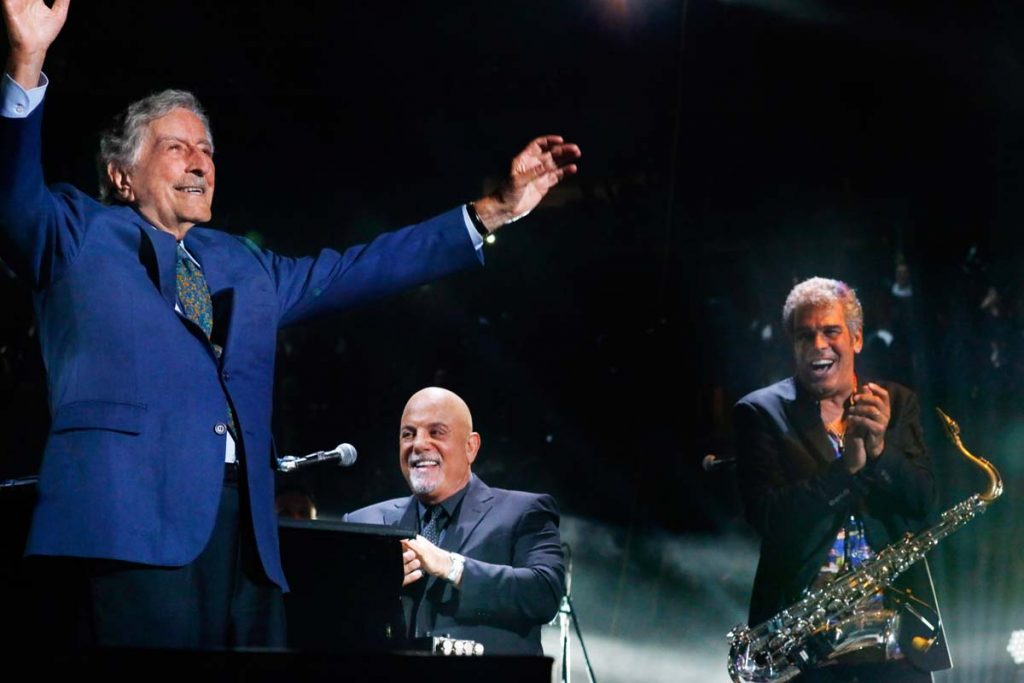 Tony Bennett, Billy Joel, Mark RIvera at Madison Square Garden
