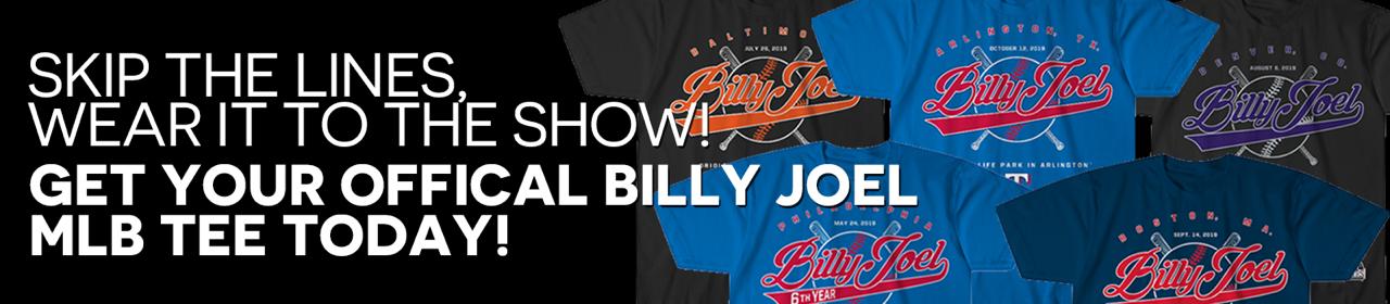 Billy Joel official MLB tees