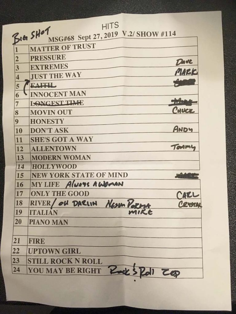 Billy Joel at Madison Square Garden – September 27, 2019 (photo 18)