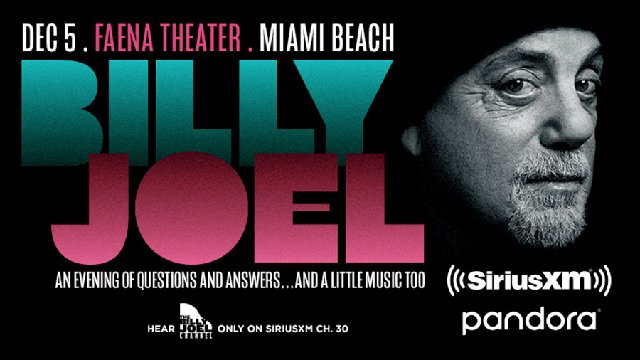 Win Tickets To Attend The SiriusXM and Pandora Event, Billy Joel: An Evening of Questions And Answers… And A Little Music, Too