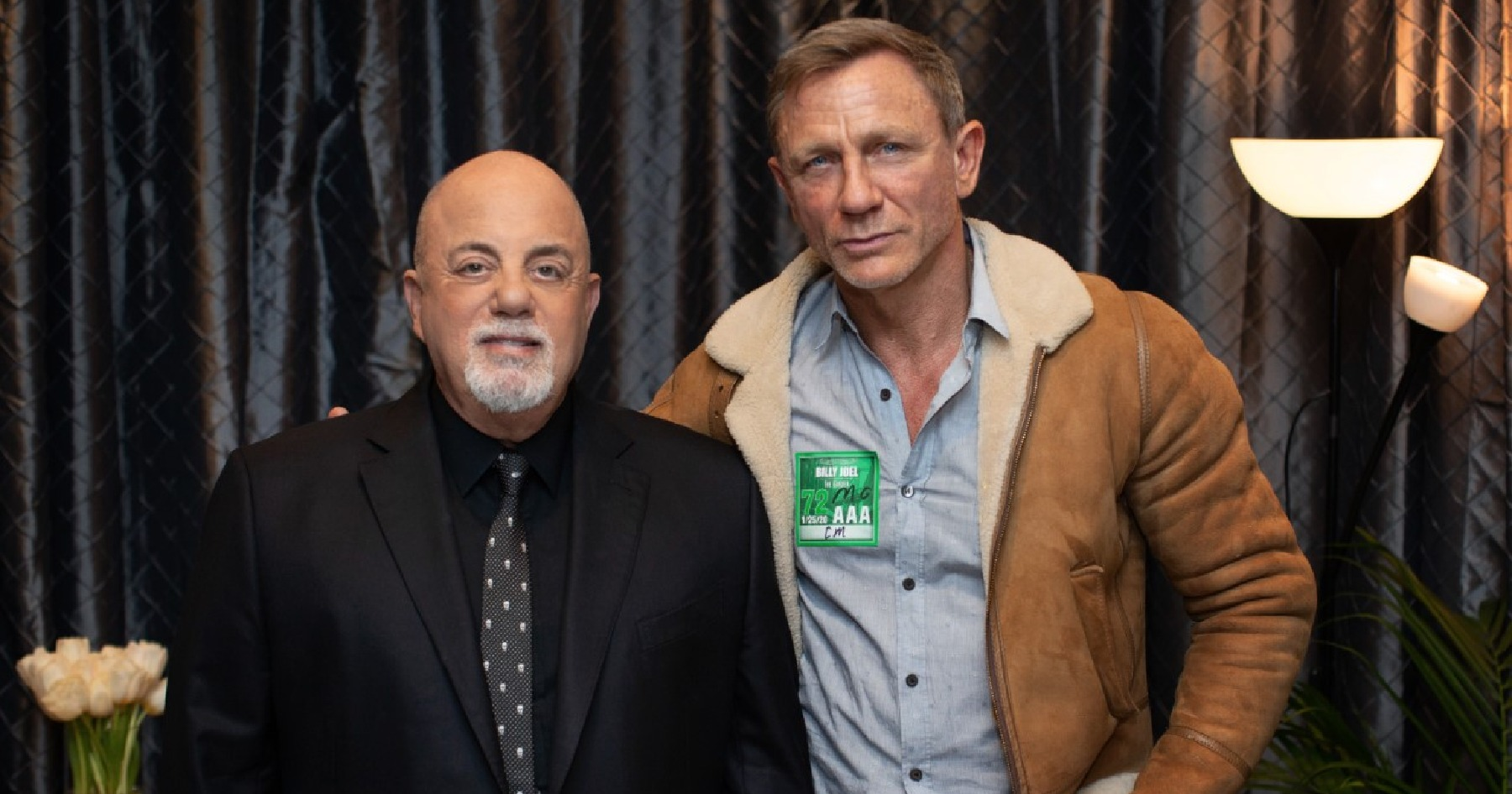 Billy Joel and Daniel Craig backstage at Madison Square Garden January 25, 2020