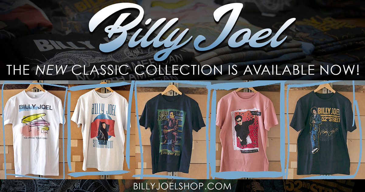Billy Joel classic merch collection available now