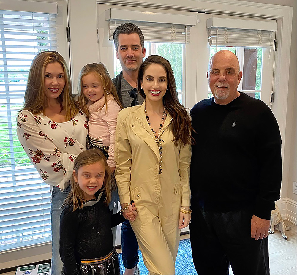 Billy Joel with Alexis, Della Rose, Remy Anne, and Alexa Ray Joel, and Ryan Gleason