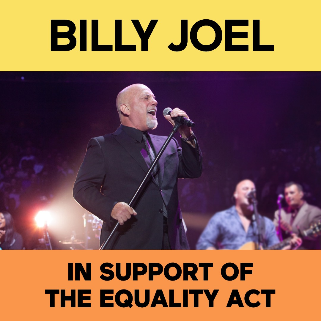 Billy Joel in support of the Equality Act